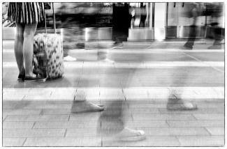 People are always on the move. New St Station, Birmingham 2014