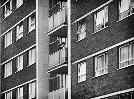 Residents in a late 50,s early 60's block of flats. I think this was in the Holloway Head area of the city - Mid 70's
