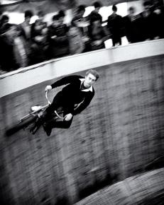 Wall of Death rider at the Tulip Festival Cannon Hill Park back in the 70's