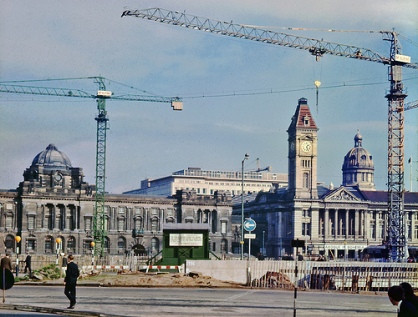 Birmingham Council House from The Hall of Memory (1970)