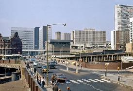 Birmingham Navigation Street and Pinfold Street, 1975