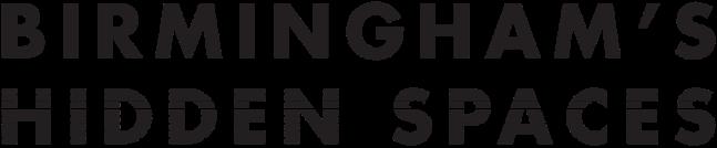 Birminghams Hidden Spaces Logo TYPOGRAPHIC STRIPE