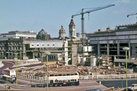 Construction of the Central Library 1970-71