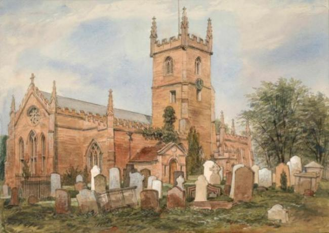 Watercolour of St Mary's Parish Church Handsworth © Birmingham Museums and Art Gallery
