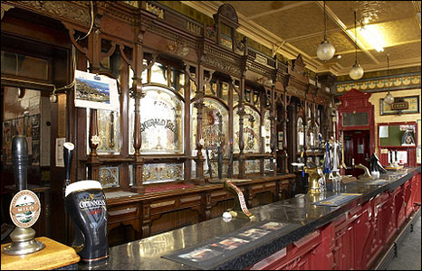 The interior of the Red Lion.