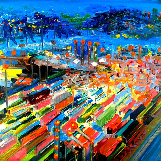 'Freight' 2014, oil on canvas by Erica Nockalls