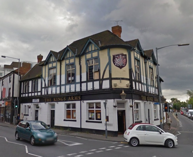 Photo 5 – The Kings Arms in Harborne in 2012 before the fire that devastated the roof.