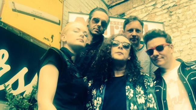 The Wonder Stuff, 2014. L-R Erica Nockalls, Mark McCarthy, Miles Hunt, Tony Arthy, Dan Donnelly