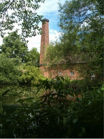Photo 7 – The view of Sarehole Mill from Wake Green Road, but not as Tolkien would remember it – there were far fewer trees then. When Tolkien refers to a 'great mill' in The Hobbit he was probably remembering Sarehole Mill. From 5 Gracewell the boys and their mother could look across the water-meadow to the mill. Tolkien mentioned the miller and his son, George Andrew senior and junior, in the Foreword to The Lord of the Rings. It is perhaps understandable that the miller shouted at him and his younger brother when they played in the mill-yard, as they were very small and there was dangerous machinery there!
