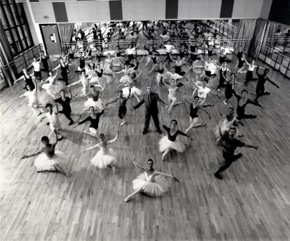 1989 - Peter Wright confirms that the Company will change its name from Sadler's Wells Royal Ballet to Birmingham Royal Ballet upon the move to the Midlands. Photo - Anthony Crickmay
