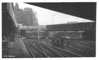 Platform 1 looking East - 2464