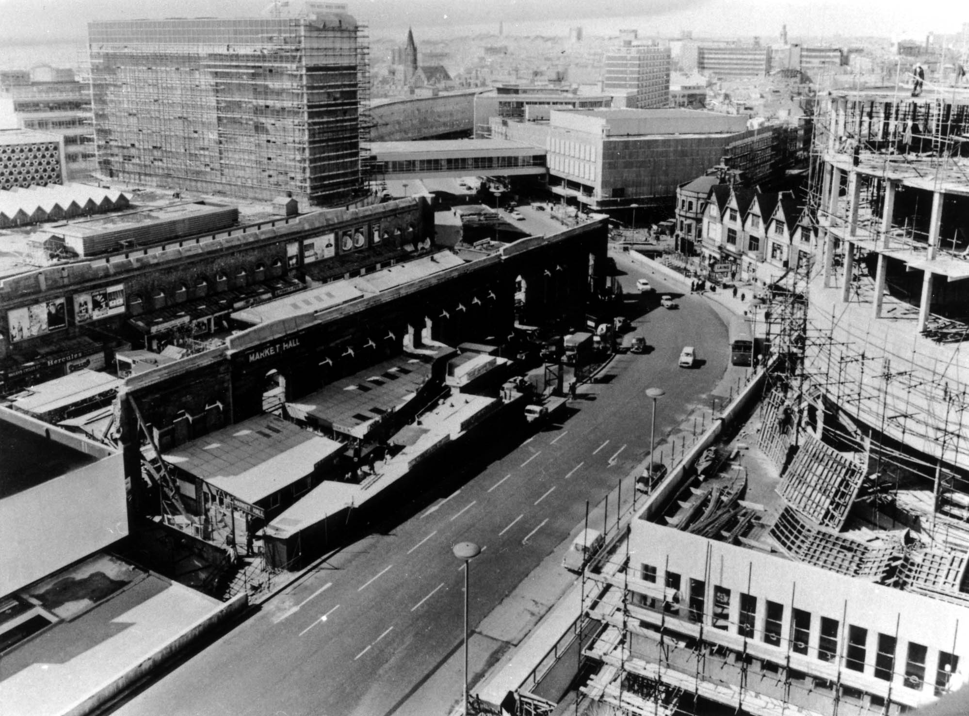 Bullring Floor Plan Looking Towards Smallbrook Ringway With The Market Hall