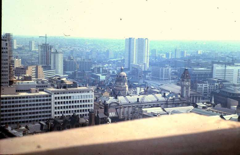 1974 BT Tower 02 - View to the South with Old Library to the right copy