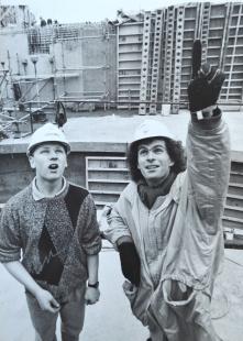 Simon Rattle and Jason Harris- Credit to Rob Whittington