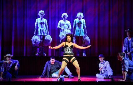 Julie Yammanee as Cynthia and The Company - Priscilla Queen of the Desert - The Musical - Photo credit Paul Coltas